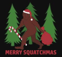 Merry Squatchmas Funny Christmas Bigfoot Santa One Piece - Short Sleeve
