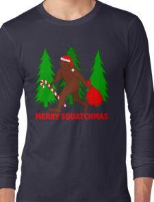 Merry Squatchmas Funny Christmas Bigfoot Santa Long Sleeve T-Shirt