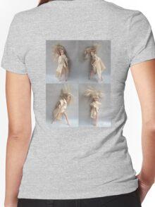 Barbie Dolls. Miniature Art. Fashion Illustration. Collage® Women's Fitted V-Neck T-Shirt