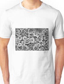 Flower Black and White Unisex T-Shirt
