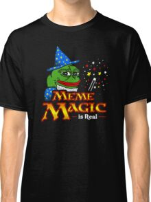 Meme Magic Is Real Pepe The Frog Wizard Classic T-Shirt