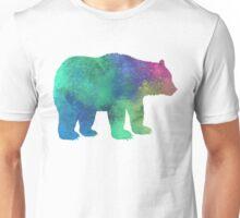 Bear Colorful  Watercolor Art Unisex T-Shirt