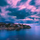 Blurry clouds at Cala d'Enmig by Ralph Goldsmith