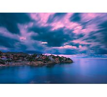 Blurry clouds at Cala d'Enmig Photographic Print