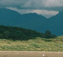 Snowdonia from Blackrock Sands near Porthmadog Sticker