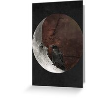 The crown and its moon Greeting Card