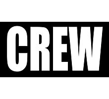 CREW, White type Photographic Print