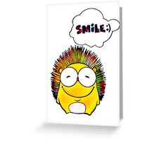 Happy Hedgehog with Smile Greeting Card