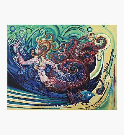 Gargoyle Mermaid Photographic Print