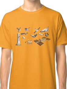 Spacecraft - Space Vehicles - The Kids' Picture Show - 8-Bit Classic T-Shirt