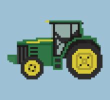 Tractor - The Kids' Picture Show - 8-Bit One Piece - Short Sleeve