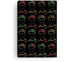 Neon Bieber Canvas Print
