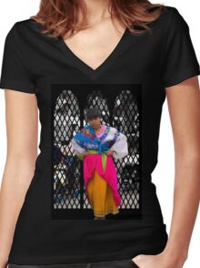 Cuenca Kids 836 Women's Fitted V-Neck T-Shirt
