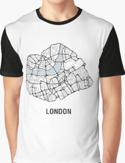 London Heart – hand drawn map of central London (black) Graphic T-Shirt