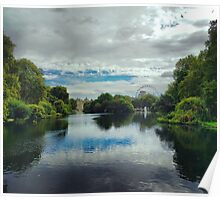 St James Park London with London Eye Poster