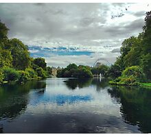 St James Park London with London Eye Photographic Print