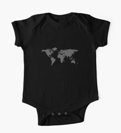 World map with abstract triangles One Piece - Short Sleeve