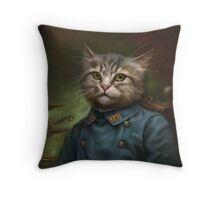 The Hermitage Court Confectioner Apprentice Cat  Throw Pillow