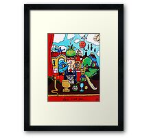 Magritte Tribute Collection Handmade Framed Print