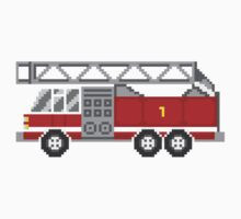 Fire Truck - The Kids' Picture Show - 8-Bit One Piece - Short Sleeve