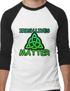 Irish Lives Matter  Men's Baseball ¾ T-Shirt