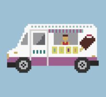 Ice Cream Truck - The Kids' Picture Show - 8-Bit Kids Tee