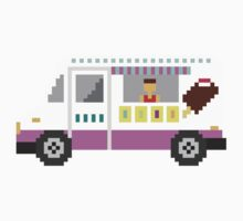 Ice Cream Truck - The Kids' Picture Show - 8-Bit One Piece - Short Sleeve