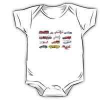 Emergency Vehicles - The Kids' Picture Show - 8-Bit One Piece - Short Sleeve