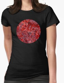 Marble Ruby Sapphire Violet  Womens Fitted T-Shirt