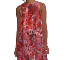Marble Ruby Sapphire Violet  A-Line Dress