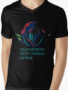 SUPER METROID DEBRIEFING Mens V-Neck T-Shirt
