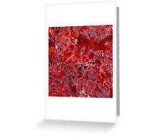 Marble Ruby Sapphire Violet  Greeting Card