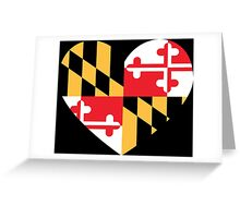 maryland flag heart Greeting Card