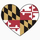 maryland flag heart by lordofthefries