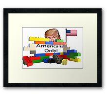 Donald Trump's Lego Wall Framed Print