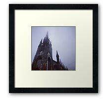 Edinburgh Tolbooth Church in the fog Framed Print