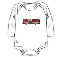 Fire Engine - The Kids' Picture Show - 8-Bit One Piece - Long Sleeve