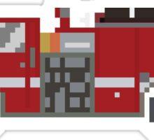 Fire Engine - The Kids' Picture Show - 8-Bit Sticker