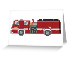 Fire Engine - The Kids' Picture Show - 8-Bit Greeting Card