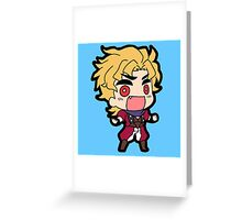 Dio Brando Greeting Card