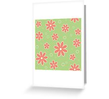 The pattern in flowers of camomile Greeting Card