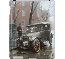 Auto Wreck in Washington DC, 1921. Colorized iPad Case/Skin