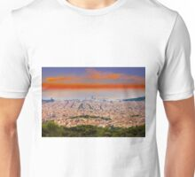 Barcelona at Sunset, Spain Unisex T-Shirt