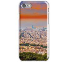Barcelona at Sunset, Spain iPhone Case/Skin