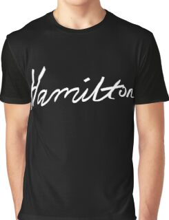 Alexander Hamilton Broadway Musical : Cursive Script Graphic T-Shirt