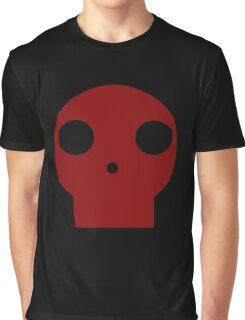 Red Skull Cartoon Graphic T-Shirt