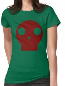 Red Skull Cartoon Womens Fitted T-Shirt