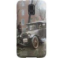 Auto Wreck in Washington DC, 1921. Colorized Samsung Galaxy Case/Skin
