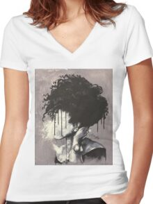 """A Natural Affair"" Women's Fitted V-Neck T-Shirt"