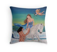 Mars and Venus Throw Pillow